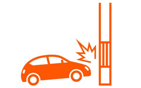 事例3自爆事故発生(ガードレール,電柱,バック時)