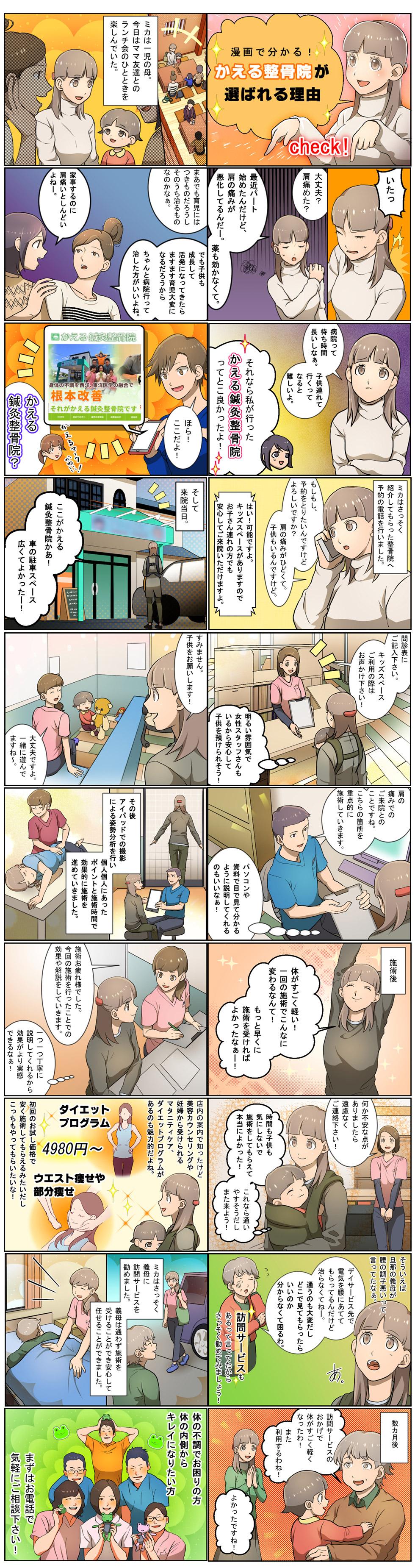 漫画でわかるかえる鍼灸整骨院